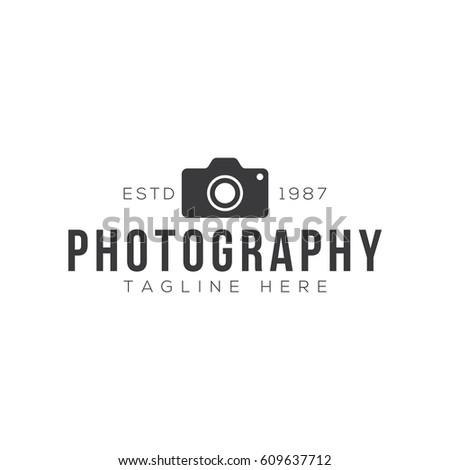 vintage photography logo design