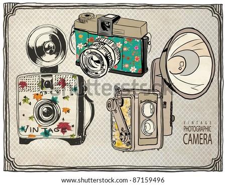 vintage photography set