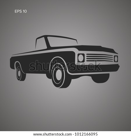 vintage pickup truck vector