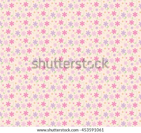Vintage Pink Floral Pattern For Print Wrapping Clothing Or