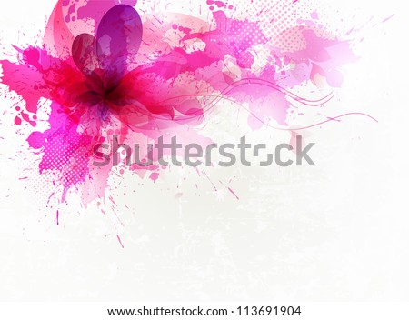 vintage  pink flower .Vector background. Vector design