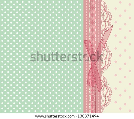 Vintage pink wedding card vector eps 10
