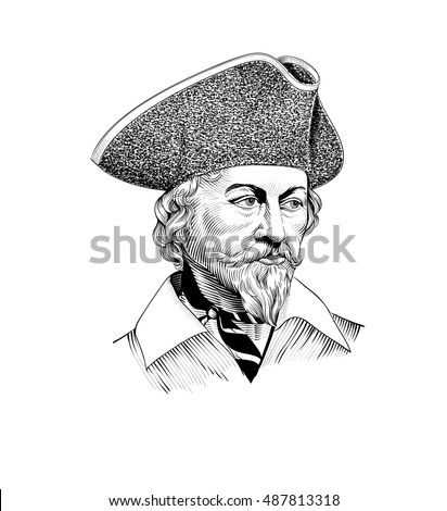 Vector illustration captains hat Popular Royalty-Free