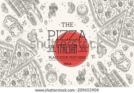 vintage pizza frame