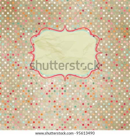 Vintage polka dot card. And also includes EPS 8 vector