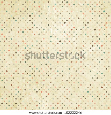 Vintage polka dot texture. And also includes EPS 8 vector - stock vector