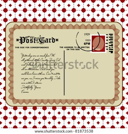 Vintage postcard date stamped 1929