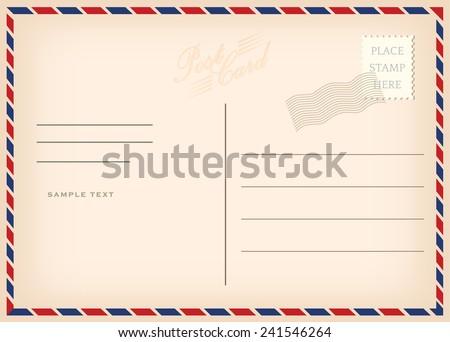 Vintage postcard, vector design