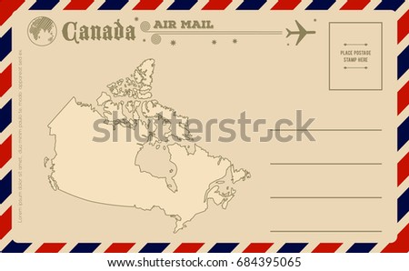 vintage postcard with map of...