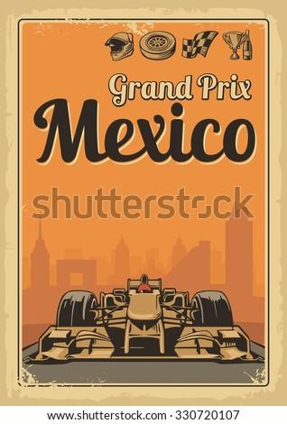 vintage poster grand prix