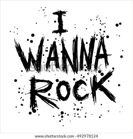 vintage poster i wanna rock