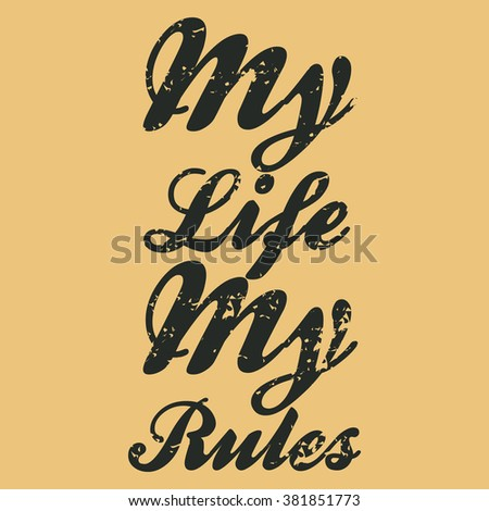 vintage poster my life my rules