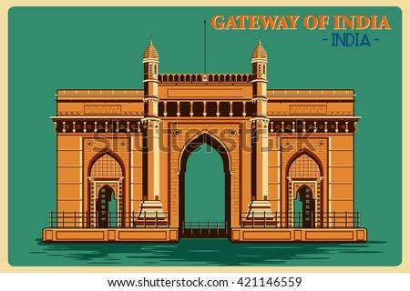 vintage poster of gateway of...