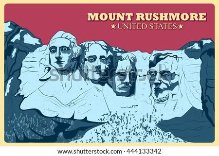 vintage poster of mount...