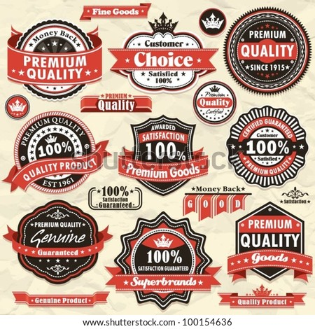 Vintage Premium quality labels (45)