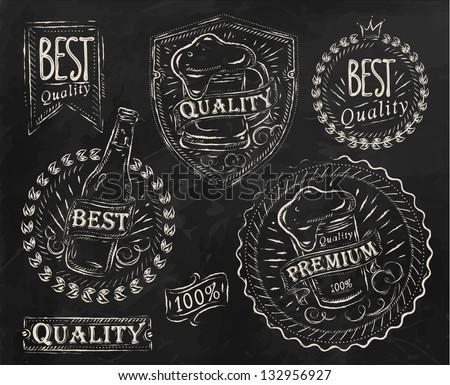Хмель эмблема на фоне кирпича Неоновый стиль иллюстрации