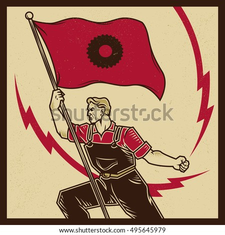 vintage propaganda poster and...