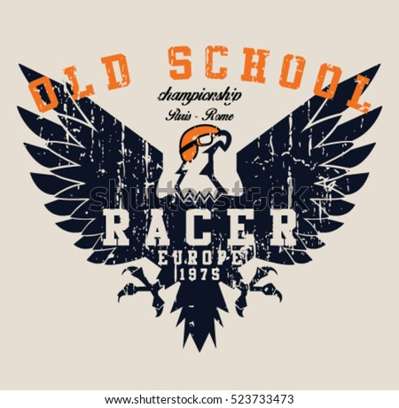 vintage race and eagle t shirt