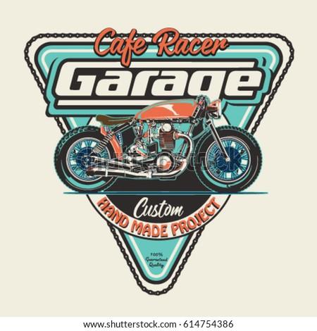 vintage race motorbike for