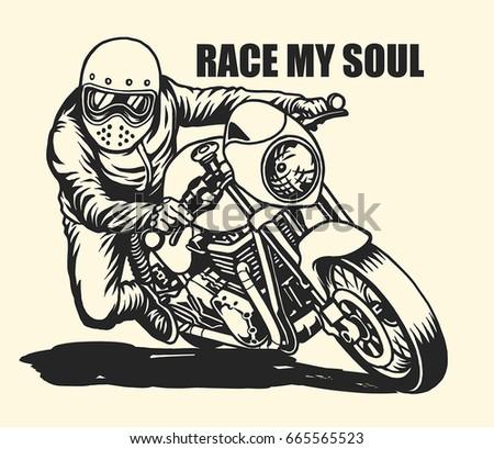 Free Cafe Racer Vector Illustration Download Free Vector Art