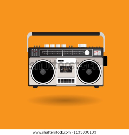 Vintage Radio Cassette vector equipment design