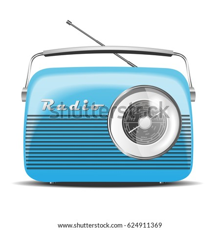 Vintage Radio. Vector illustration