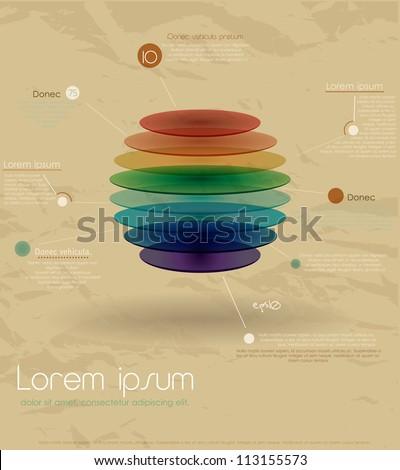 Vintage rainbow infographic template. Vector illustration EPS10