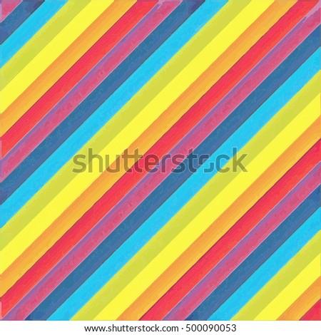 vintage rainbow line oil color
