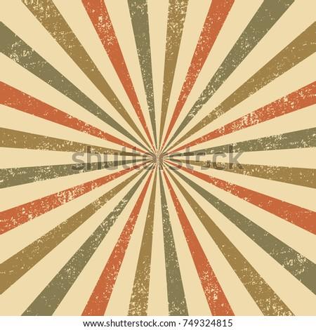 Vintage rays background