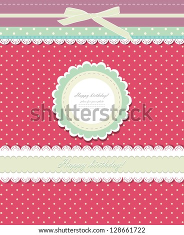 vintage red background for
