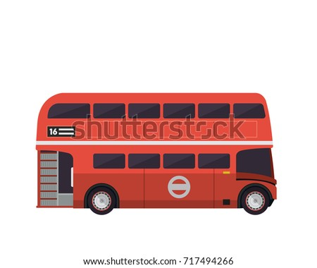 vintage red double decker bus...