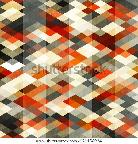 vintage red rhombus seamless pattern