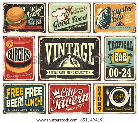 vintage restaurant and cafe bar ...