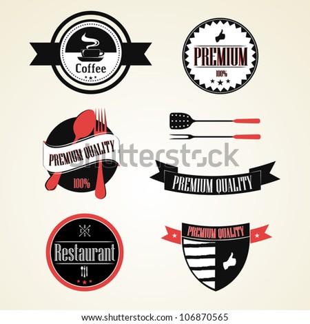 Vintage Restaurant Labels,Premium Quality Vintage