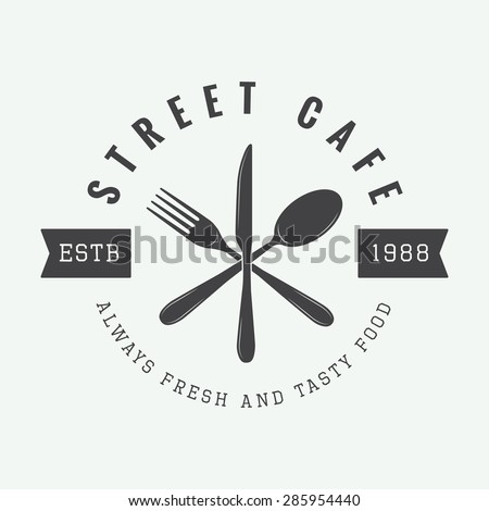 vintage restaurant logo  badge