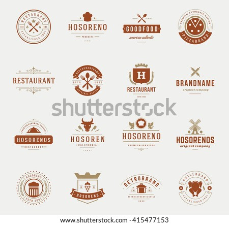 vintage restaurant logos design ...