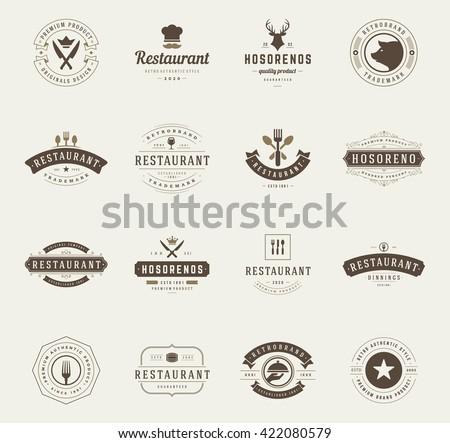 vintage restaurant logos design