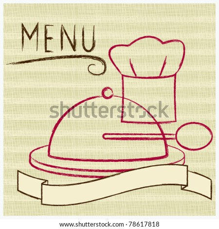 Vintage restaurant menu with textured background - stock vector