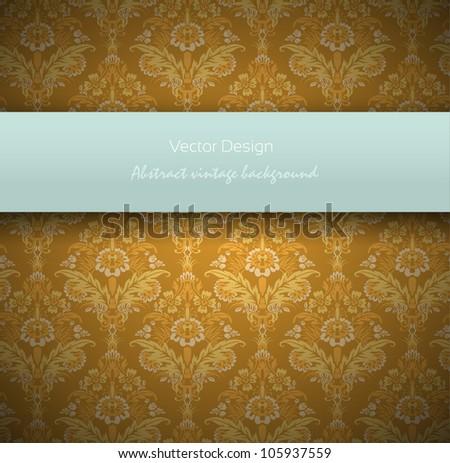 Vintage Retro Background. Grunge Wallpaper Vector Design