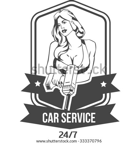 vintage retro badge for car
