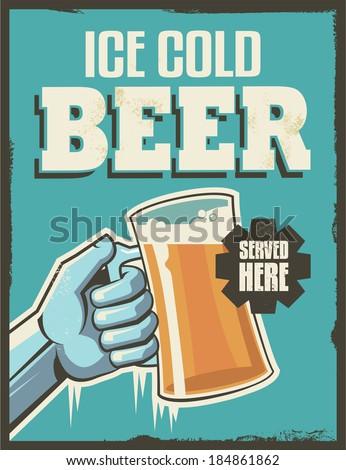 vintage retro beer poster