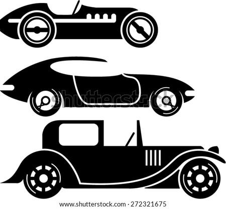 vintage retro car racing coupe