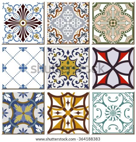 Antique ceramic tile