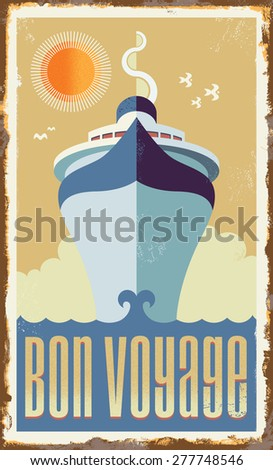 vintage retro cruise ship  ...