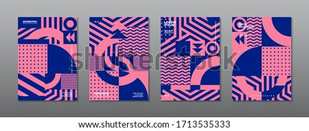 Vintage retro design vector covers set. Swiss style geometric compositions for book covers, posters, flyers, magazines, business annual reports