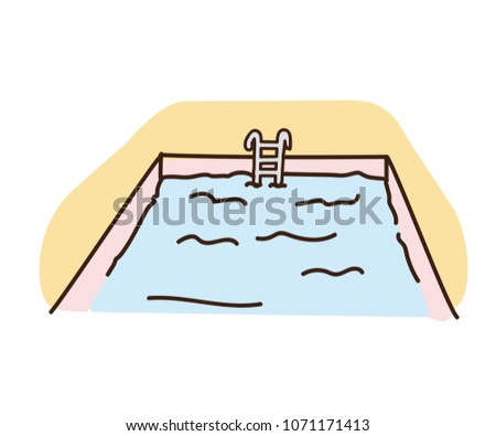 vintage swimming pool illustration download free vector art stock