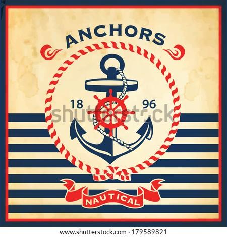 vintage retro nautical poster