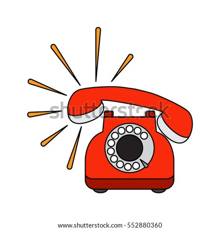 vintage retro phone in a...