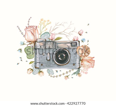 vintage retro photo camera in