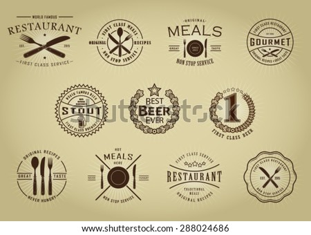 vintage retro restaurant beer